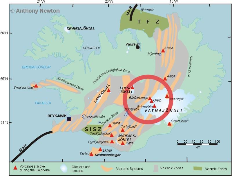 Iceland Volcanoes Map Car Interior Design